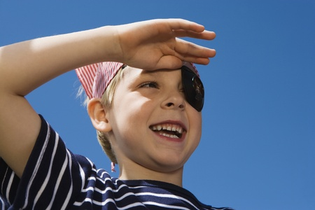 Little Boy Playing Pirate Stock Photo - 12592717