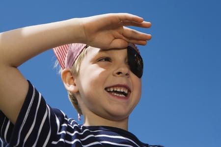 Little Boy Playing Pirate Stock Photo - 12592717