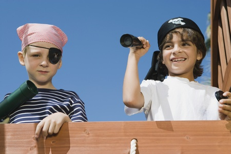 pretend: Little Boys Playing Pirate
