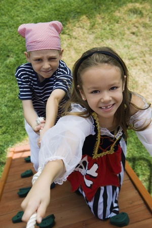 Little Kids Playing Pirate Stock Photo - 12592725