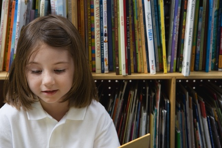 grade school age: Little Girl Reading LANG_EVOIMAGES