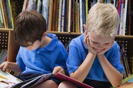 7 year old boys: Little Boys Reading Picture Books