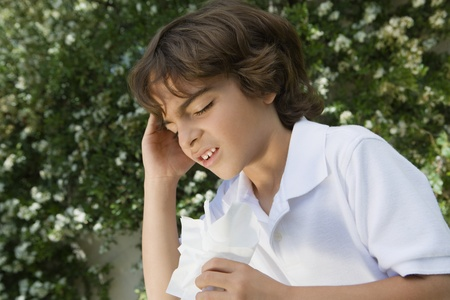 maladies: Little Boy with a Cold