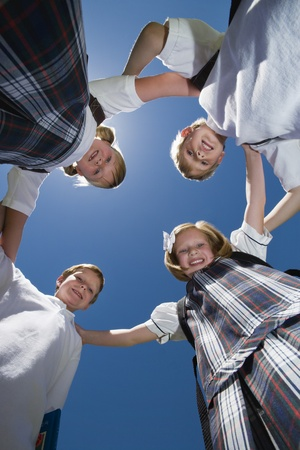 Elementary Students in Circle Stock Photo - 12592827