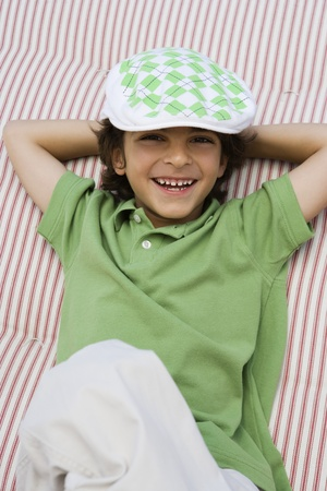 Boy Wearing Newsboy Cap Stock Photo - 12592828