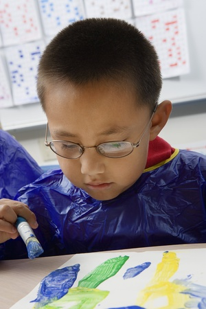 Elementary Student Painting Stock Photo - 12592846