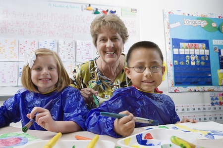 Teacher and Elementary Students Stock Photo - 12592848