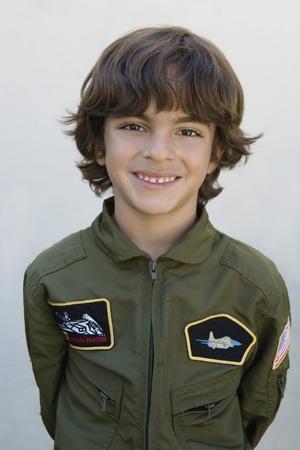 ethnic mixes: Boy Wearing Pilots Jacket LANG_EVOIMAGES