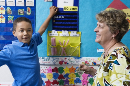 elementary student: Elementary Student Learning to Count Money