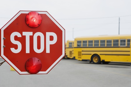 Stop Sign on School Bus Stock Photo - 12592921