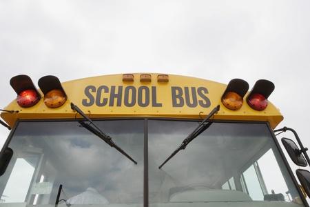 busses: Caution Lights Flashing on School Bus