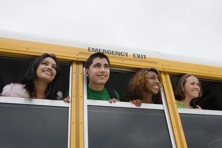 motorbus: High School Students on a Bus LANG_EVOIMAGES