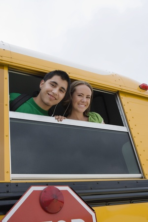 busses: High School Students on a Bus LANG_EVOIMAGES