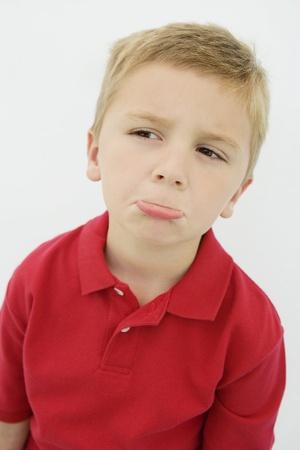 Boy Pouting Stock Photo - 12736375