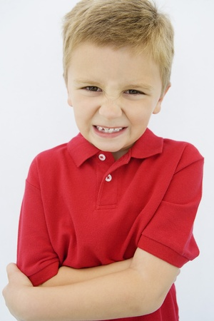 Boy Grimacing Stock Photo - 12736377