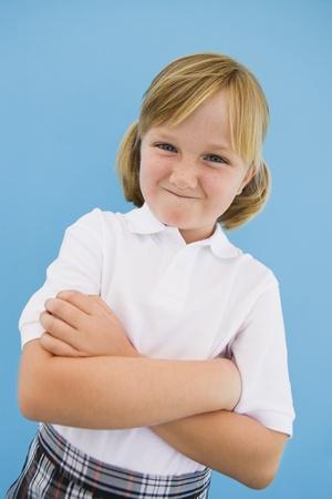 misbehaving: Girl Wearing School Uniform
