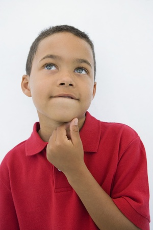Boy Thinking 免版税图像 - 12736401