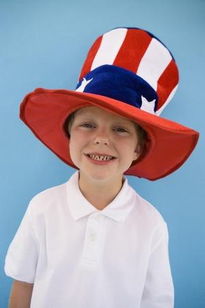 stovepipe hat: Patriotic Boy