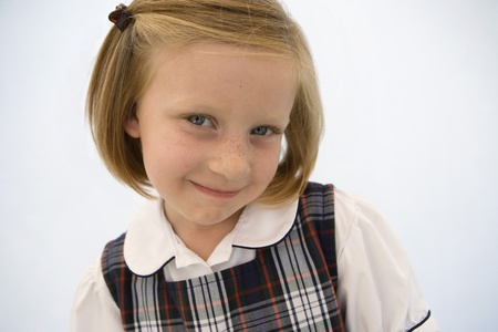 Girl Wearing School Uniform Stock Photo - 12736420