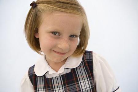 Girl Wearing School Uniform Stock Photo - 12736420