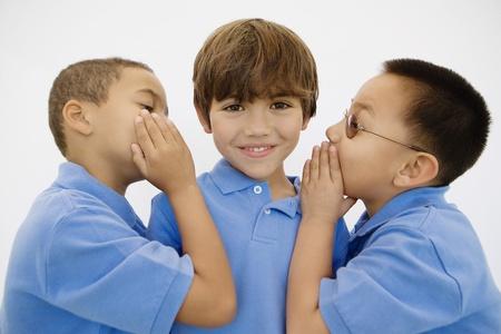 Boys Whispering Stock Photo - 12736440