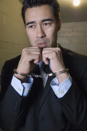 Man in handcuffs Stock Photo - 12736458
