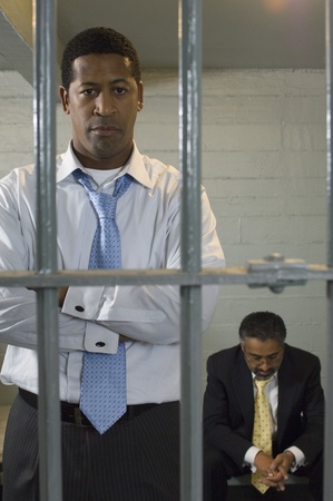 Two men in prison cell Stock Photo - 12736474