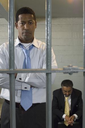 prison system: Two men in prison cell LANG_EVOIMAGES