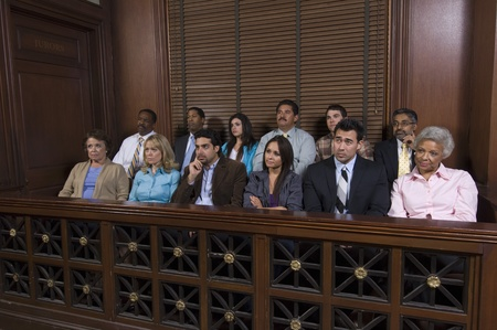 Jury box Stock Photo - 12736485