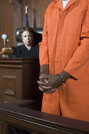 Judge convicting criminal in court Stock Photo - 12736503