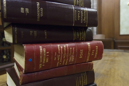 court room: Legal books in court room
