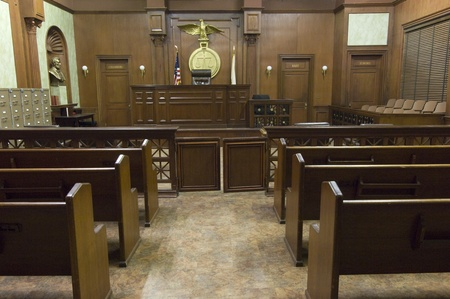court room: Court room seating