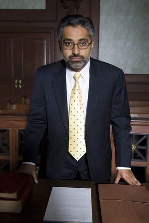 Man wearing suit in court portrait Stock Photo - 12736523