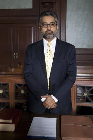 Man wearing suit in court portrait Stock Photo - 12736524