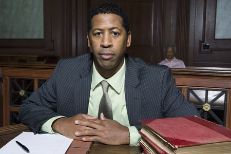 Man sitting in court portrait Stock Photo - 12736535
