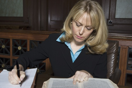 Woman working in court Stock Photo - 12736548