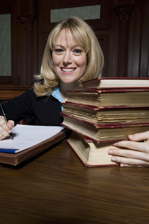 Woman working in court portrait Stock Photo - 12736557