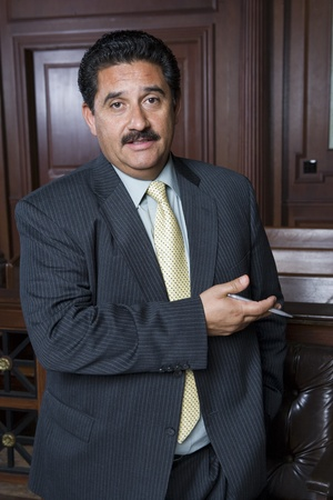 middle easterners: Man standing in court portrait