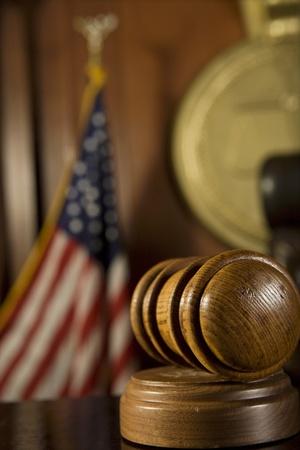 Gavel in court room Stock Photo - 12736603