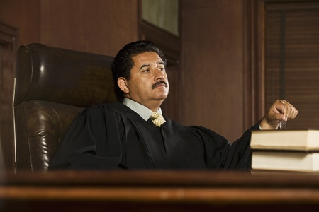 middle easterners: Judge sitting in court