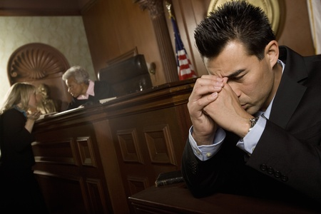Guilty man in court room Stock Photo - 12736691