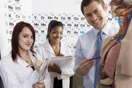 Teacher Giving Anatomy Lesson Stock Photo - 12736736