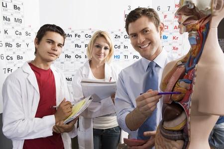 Teacher Giving Anatomy Lesson Stock Photo - 12736737