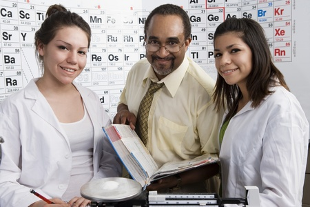 Students and Teacher in Science Class Stock Photo - 12736740