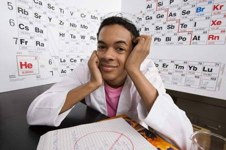 teenaged boys: Student in Science Class