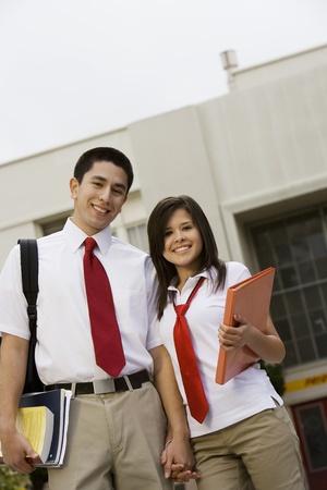 teenaged boys: High School Couple