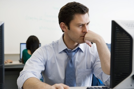 High School Teacher in Computer Lab Stock Photo - 12736846