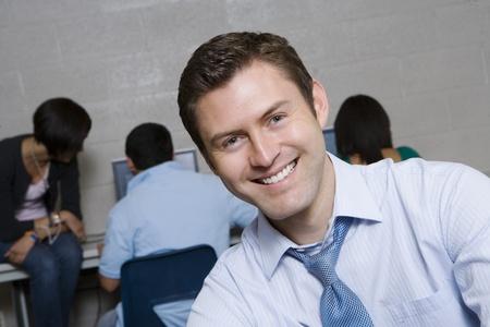 High School Teacher in Computer Lab Stock Photo - 12736857