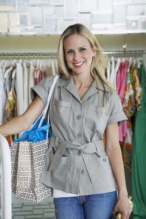 Young Woman in a Clothing Store Stock Photo - 12736880