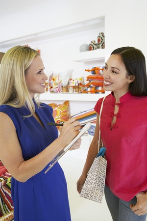 salespeople: Young Women Shopping